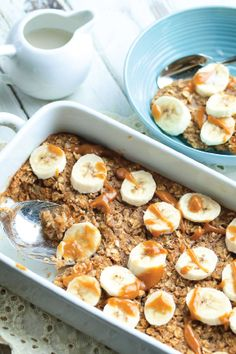 Breakfast is an important way to start the day, and it should be healthy and delicious too! Banana Peanut Butter Baked Oatmeal is a scrumptious fruit-filled meal that's easy to make on a busy morning and a tasty way to feed a crowd.