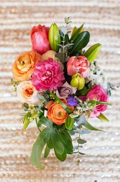 Stunning pink, orange and light purple selection. Has a bit of a desert vibe... (by Color Pop Events)