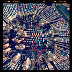 Spoons on display...Marrakech, Morocco