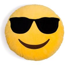 This cool dude wears his sunglasses at night, morning, even during mid-day siestas. The dude is just too cool. - Emoji Pillows are made with super soft plush - Filled with polyester fibres - About 33