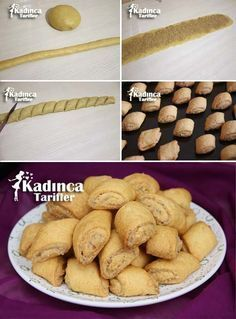 Tahini Hazelnut Roll Cookie Recipe, How To? – Womanly Recipes - Top Of The World Delicious Donuts, Delicious Cake Recipes, Yummy Cakes, Yummy Food, Donut Recipes, Cookie Recipes, Turkish Cookies, Tahini, Fun Desserts