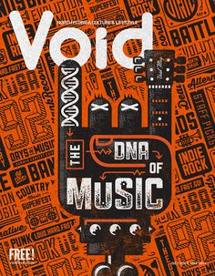 Our cover for the June 2014 Void Magazine DNA of Music Issue.