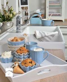 kuchnia w kolorze błękitu - Kuchnia - Styl Skandynawski - Pretty Home