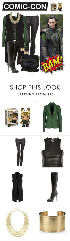 """""""Loki Look for Comic-Con"""" by patricia7 ❤ liked on Polyvore featuring Annarita N., 7 For All Mankind, Balmain, Pieces, Sergio Rossi, BCBGMAXAZRIA, Blue Nile and Michael Kors"""