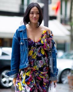 Floral maxi dress  denim jacket = The perfect summer #streetstyle outfit! See more of the best looks on the streets at the Haute Couture Fashion Week FW17 shows on harpersbazaar.com.sg! #HarpersBazaarSG (: @moeeztali for @harpersbazaarsg)  via HARPER'S BAZAAR SINGAPORE MAGAZINE OFFICIAL INSTAGRAM - Fashion Campaigns  Haute Couture  Advertising  Editorial Photography  Magazine Cover Designs  Supermodels  Runway Models