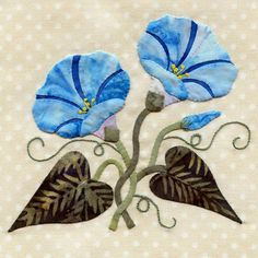 Morning Glory applique block by Pearl P. Pereira | P3 Designs