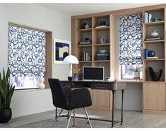 Blinds.com Premium Roman Shades in Aurora Arctica