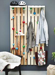 Ikea ps 2012 hat and coat rack Ikea Hall, Ikea Ps 2012, Front Closet, House Furniture Design, Ikea Kids, Palette, Scandinavian Interior Design, Decoration, Home Deco