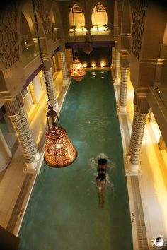 The Global Girl Travels: The indoor pool at the Sofitel Legend Old Cataract Hotel in Aswan, Egypt.