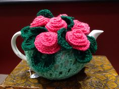 Crochet Teapot Cosy. Home Sweet Home crafts made by Elisabeth. $35. Can be made to order.