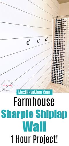Easy DIY Sharpie Shiplap Wall That Looks AMAZING! This DIY Shiplap wall will give you the farmhouse decor look you love without the expensive price tag. Use a sharpie marker to create this Sharpie shiplap wall! Painting Shiplap, Room Wall Painting, Diy Painting, Faux Shiplap, White Shiplap, Sharpie Wall, Installing Shiplap, Marker, Plank Walls