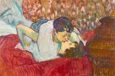 Henri De Toulouse-lautrec Painting - In Bed. The Kiss by Henri de Toulouse-Lautrec