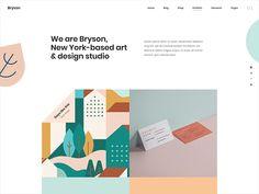 Bryson Design studio home by Stevan Ivic for Qode Interactive on Dribbble Ui Portfolio, Carousel Designs, Home Studio, Show And Tell, Lorem Ipsum, House Studio