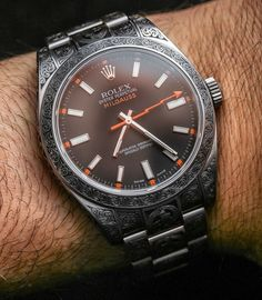 Rolex Milgauss 116400 Engraved By MadeWorn Watch Review Wrist Time Reviews