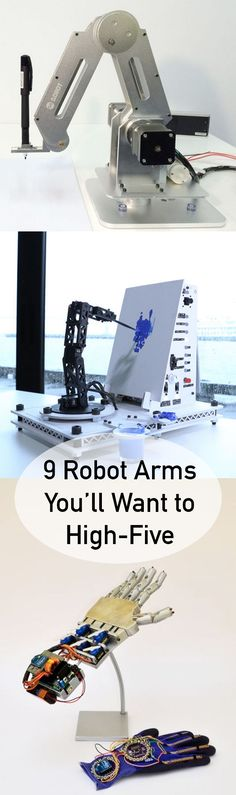 These amazing bot arms can tighten screws, paint pictures, assemble things, and more.