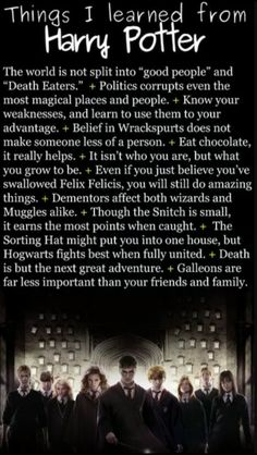 What I Learned from Harry Potter