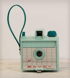Vintage 1960s Savoy Camera - Mint Green