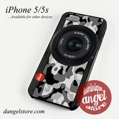 black camo leica camera Phone case for iPhone 4/4s/5/5c/5s/6/6s/6 plus