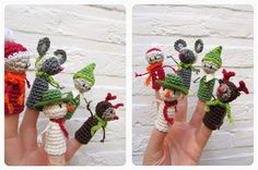 been sniffing: Kerstvingerpopjes hooks Part 5: Kerstelfje + facebook give-away!