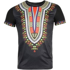 John H - Tee Shirt Dashiki T160915 Noir - LaBoutiqueOfficielle.com