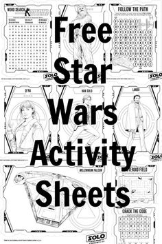 Solo A Star Wars Party Printables - Star Wars Printables - Ideas of Star Wars Printables - Solo A Star Wars Party Printables Star Wars Classroom, Star Wars Crafts, Printable Star, Star Wars Day, Star Wars Birthday, Activity Sheets, Party Printables, Classroom Activities, Party Ideas