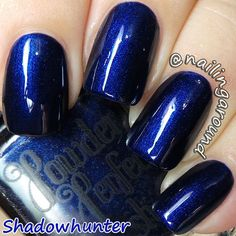 Shadowhunter - Powder Perfect Nail Polish - Shadowhunter Collection - Navy Blue Lacquer