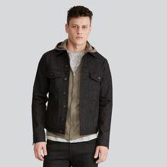 4c75425c8b10 Frank + Oak x Naked   Famous Denim - Selvedge 13 oz Denim Jacket in Black