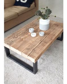 34 Awesome Diy Coffee Table Projects Once you have located the right DIY coffee . - 34 Awesome Diy Coffee Table Projects Once you have located the right DIY coffee table plans, comple - Diy Coffee Table Plans, Wood Coffee Tables, Coffee Ideas, Natural Wood Coffee Table, Simple Coffee Table, Natural Coffee, Reclaimed Wood Coffee Table, Diy Tisch, Table Cafe
