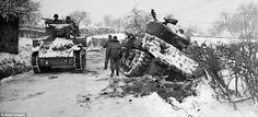 US Tanks near Amonines, Belgium - January 7 1945