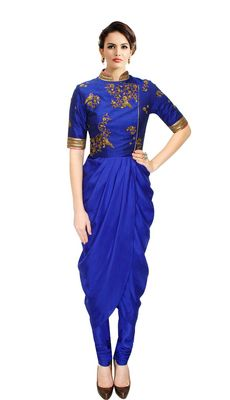 New Latest Designer Attractive and Fancy Blue Color Kurti    Blue Kurtis, blue color kurtis, royal blue colour kurtis, blue Kurtis online, blue kurti