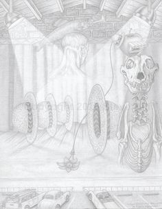 Dr. Applehead is a Song & Dance Man  #pencildrawing #surreal #fineart #fantasy #blackandwhite
