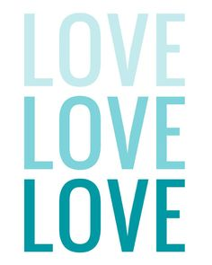 Graphic LOVE Typography- CHOOSE your ombre COLOR. $24.00, via Etsy.