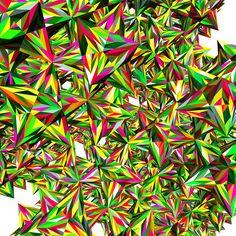 Marius Watz: AbsolutCracking-01 000. Way too much of a kinda good thing. #polyhedra #subdivision #geometry