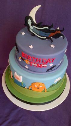 Adventure themed birthday cake