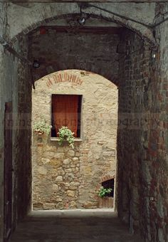 Rustic Italian Photography - Window Wall Art - European Home Decor - Italian Nana's Kitchen. $25.00, via Etsy.
