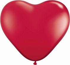 Balão Coração Vermelho Ruby Red Heart - Balões Qualatex