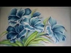 Como pintar hibisco. Pintura em tecido - YouTube