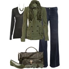 """""""Military Green"""" by partywithgatsby on Polyvore"""