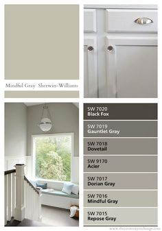 Sherwin Williams Mindful Gray is one of the most versatile warm gray paint colors out there. Warm Gray Paint, Best Gray Paint, Neutral Paint Colors, Gray Color, Magnolia Paint Colors, Interior Paint Colors For Living Room, Kitchen Paint Colors, Paint Colors For Home, Sherwin Williams Gris