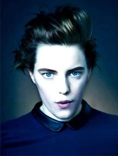 Erika Linder shared by on We Heart It Androgynous Girls, Androgynous Fashion, Tomboy Fashion, Men's Fashion, Below Her Mouth, Female Celebrity Crush, Le Genre, Look In The Mirror, Real People