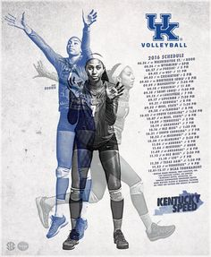 2016 Kentucky Volleyball Poster on Behance Hs Sports, Sports Flyer, Sports Logo, Sports Graphic Design, Graphic Design Posters, Graphic Design Inspiration, Volleyball Posters, Sports Posters, Behance Branding