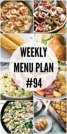 A delicious collection of dinner, side dish and dessert recipes to help you organize your weekly menu plan and make things easier at dinner time. Meal Planning Board, Weekly Menu Planning, Family Meal Planning, Family Meals, Meal Planing, Weekly Dinner Plan, Group Meals, Family Recipes, Corned Beef