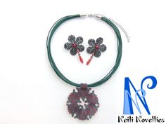 Beading Earrings & Necklace Forest Flowers