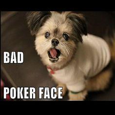 Com essa poker face não da né =(.