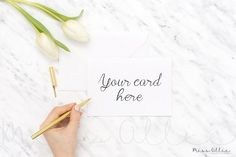Card styled stock mockup by Miss Ollie on @creativemarket