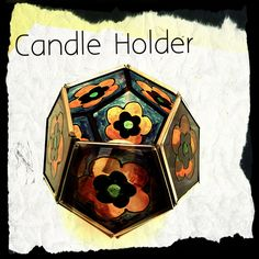 3D pentagon ball candle holder With Flowers £8