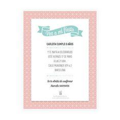 Invitación online personalizada Geométrica - La Fiesta de Olivia