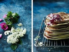 Pancakes with hip rose syrup