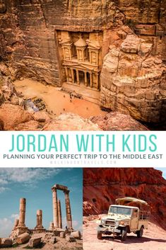 Start planning your ultimate trip to Jordan, including stops in Amman, Jerash, Petra, Wadi Rum and the Red Sea. Travel to Jordan with kids is easier than you think, and also one of the safest places in the Middle East to go right now to see ancient Roman ruins, hike in the desert, see UNESCO World Heritage sites and more. Grab our quick guide filled with Travel tips to get started on your next adventure. #jordan #familytravel Asia Travel, Travel Tips, Travel Destinations, Travel With Kids, Family Travel, Jerash, Jordan Travel, Tourist Sites, Wadi Rum