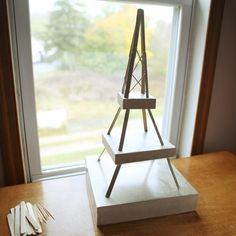 Instructions on How to Build an Eiffel Tower Made From Toothpicks or Popsicle Sticks